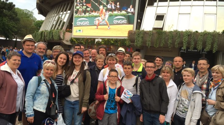 photo de groupe à Roland Garros, le 26 Mai 2016