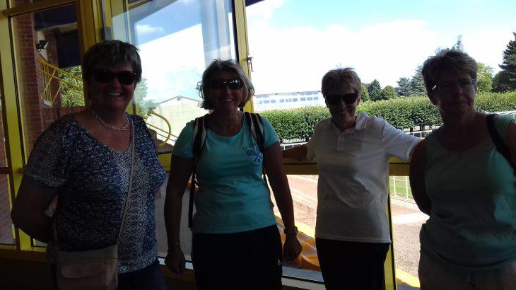 Gaelle, Sylvie, Karine et Chantal prêtes pour la randonnées