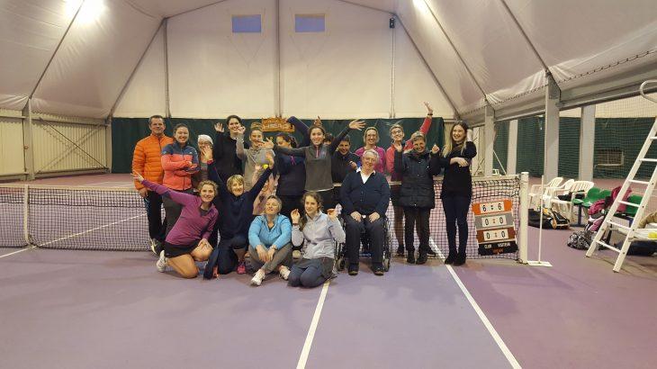 photo des participants Crespin-Maubeuge et Préseau - Raquette FFT - Mars 2017